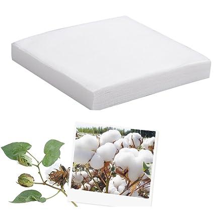 Algodón limpiador desechables de algodón facial fuerte absorción de agua y resistente al desgarro Limpiaparabrisas Cosmético