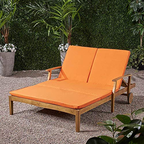 Outdoor Double Chaise Lounge in Orange