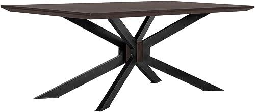 Armen Living Pirate Acacia Modern Dining Table
