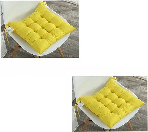 Cuscini imbottiti per sedia con lacci, design trapuntato