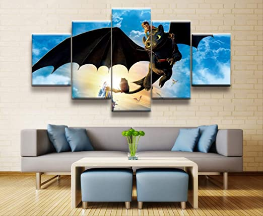How to Train Your Dragon Movie Art Canvas Poster Wall Art Home Decor Print