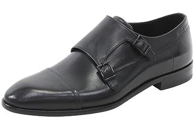 Hugo Boss Men's Double Monk Strap Shoes, Black, 7 UK (8 D(