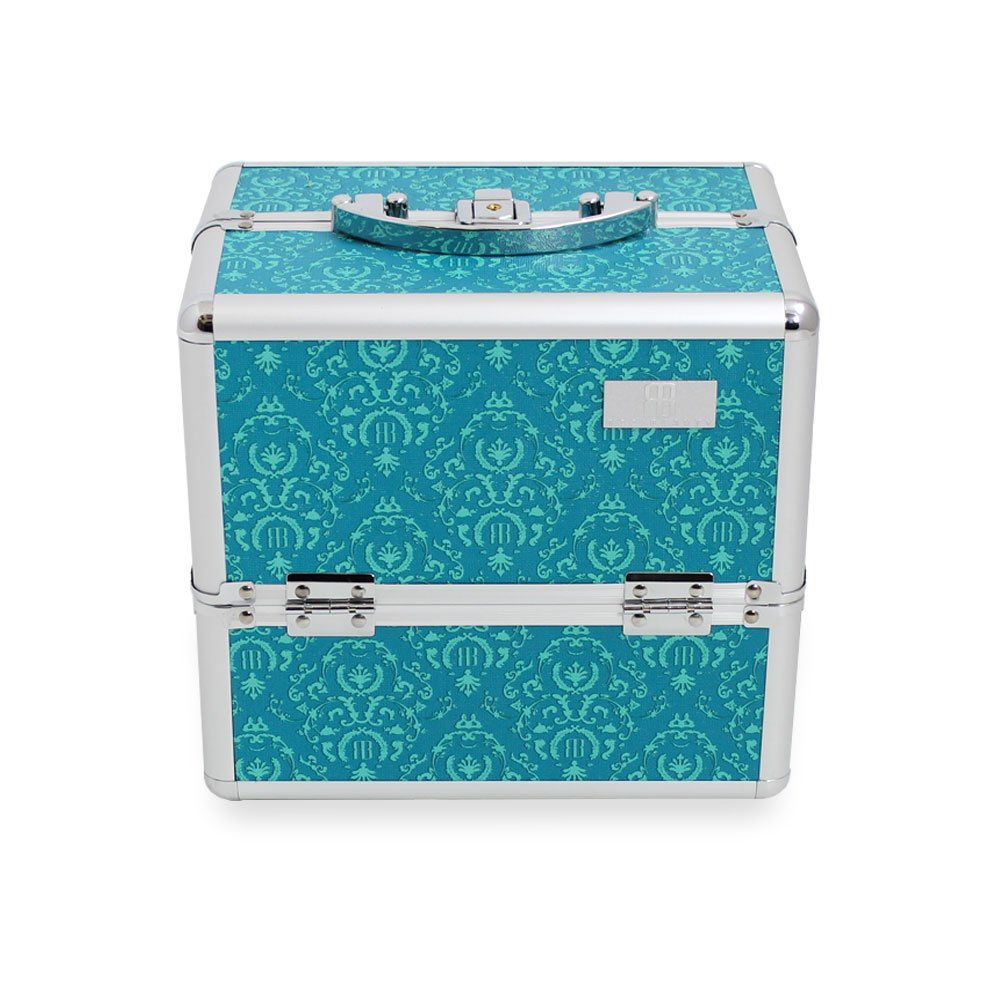 Beauty Box, Togo Imperial Teal Cosmetics Case, Professional Beauty Tools Storage Holder Roo Beauty Ltd