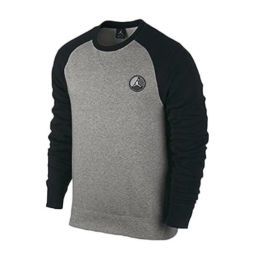 022a09b4c640e5 Amazon.com  Jordan Men s AJ VIII Graphic Crew Sweatshirt Heather ...