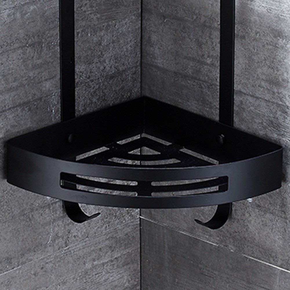 WENZHE Estante Esquina De Baño Ducha Cesta Baldas Colgante Estantería Rinconera Cesta Triangular Esquina Acero Inoxidable, Negro, 3 Tamaños (Color : 2 Layers): Amazon.es: Hogar