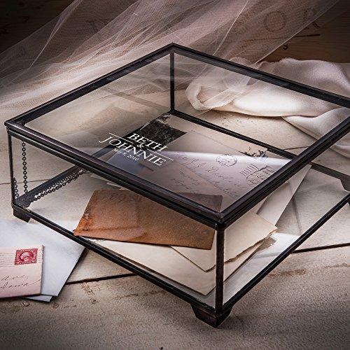 J Devlin Box 747-EB227 Personalized Glass Wedding Card Box Engraved Keepsake Reception Card Holder Display by J Devlin Glass Art