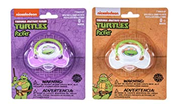 Amazon.com : Nickelodeon Ninja Turtles Pacifier 2 Pack for Baby ...