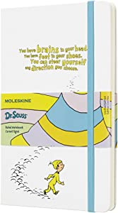 "Moleskine Limited Edition Dr. Seuss Notebook, Hard Cover, Large (5"" x 8.25"") Ruled/Lined, White, 240 Pages"