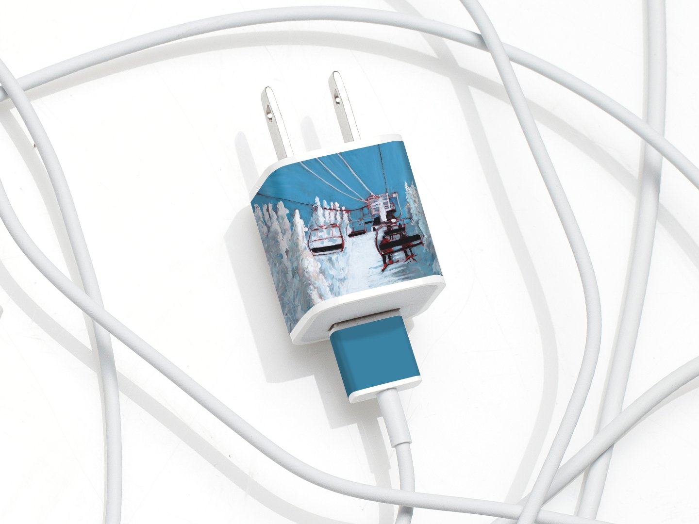 MEO multi-packs include labels for Mac laptop chargers, the iPad charger, and the iPhone/Apple Watch charger! (Skiers): Cell Phones & Accessories