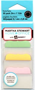Martha Stewart Home Office with Avery Tabs, 2-Inch Solid, Assorted Pastel Colors, 10-Tabs/Color, 3 Colors, 30-Tabs/Pack