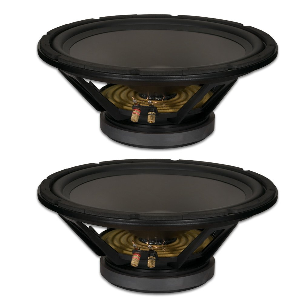 Goldwood Sound, Inc. Stage Subwoofer, Heavy Duty 4ohm 15'' Woofers 550 Watts each Replacement 2 Speaker Set (GW-15PC-4-2) by Goldwood Sound, Inc.