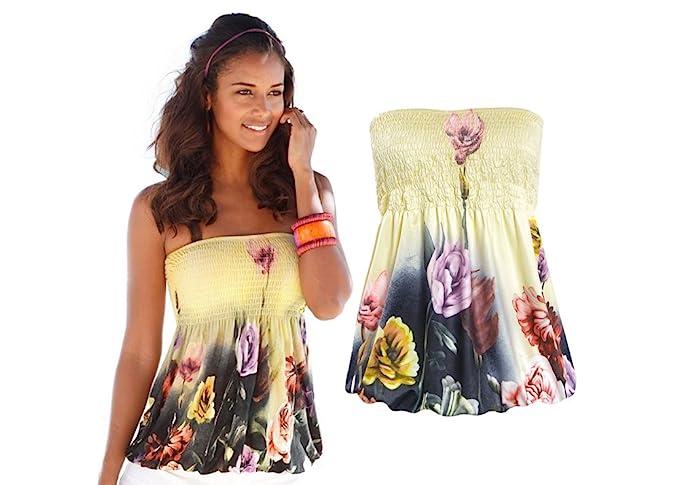 7be437fed9b Women s Off Shoulder Stripe Casual Blouse Shirt Tops Short Yellow Sexy  Chiffon Ruffles T Shirt(