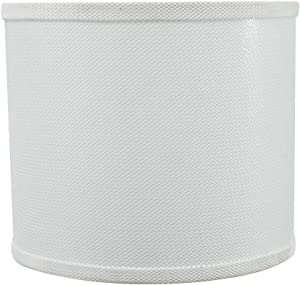 Aspen Creative 31101 Transitional Drum (Cylinder) Shaped Spider Construction Lamp Shade in White, 12