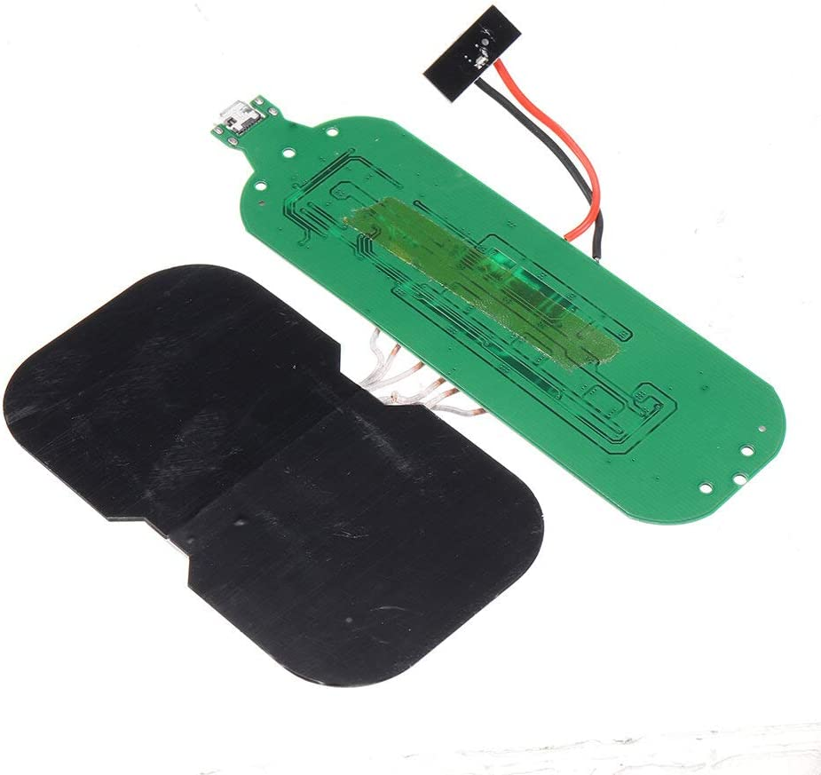 Módulo electrónico Qi Standard Wireless Carging Tablero de carga Salida de carga rápida 1A Universal DIY 3-Bobinas PCB Tablero de circuito 5V 2A 10W Equipo electrónico de alta precisión