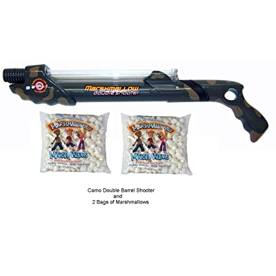 MFC Camo Double Barrel Shooter with 2 Bags of Marshmallows: Toys & Games