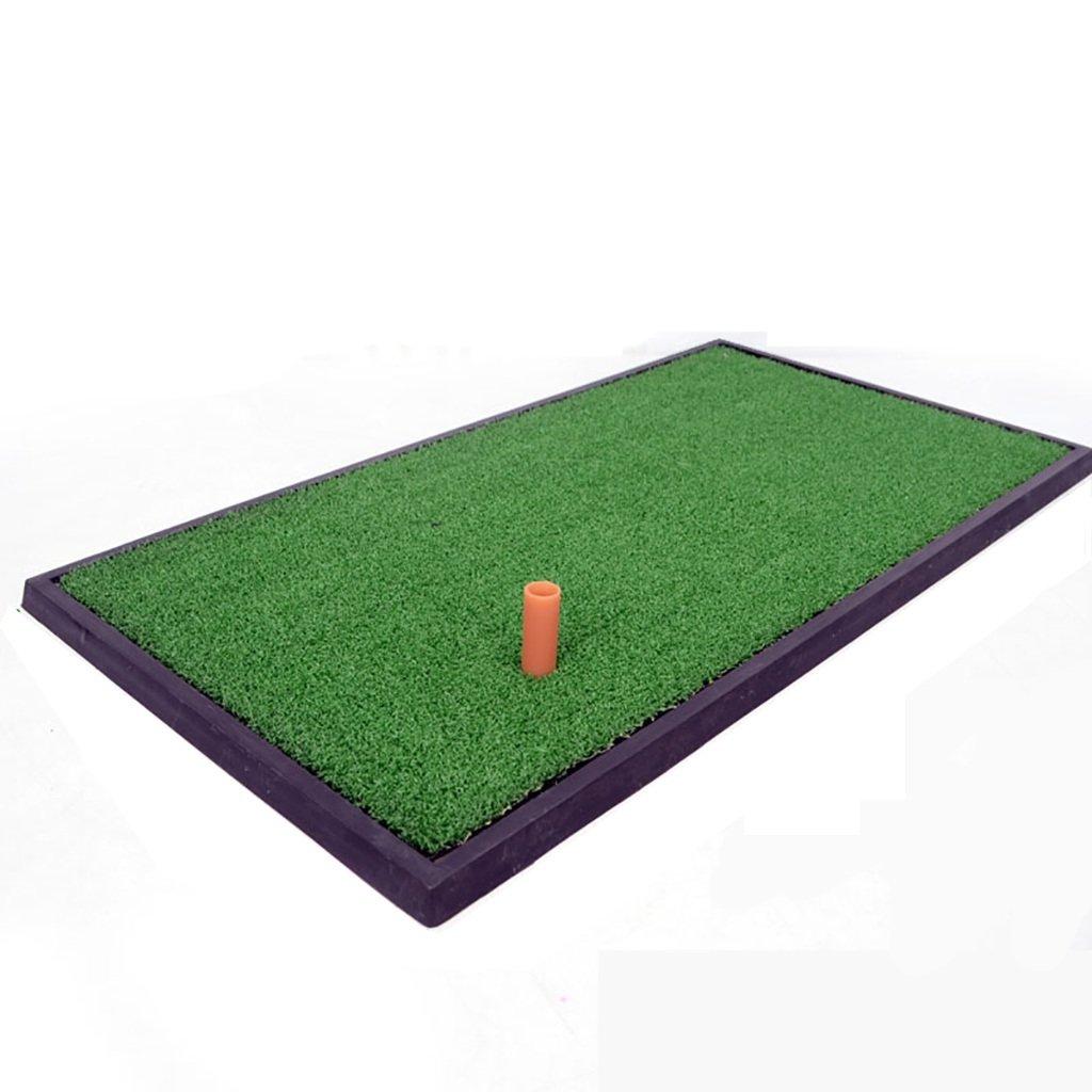 ミニゴルフマット2本のティー、8ミリメートル草の厚さ、24.8 * 13インチで室内のオフィスパットプラクティスマットポータブル