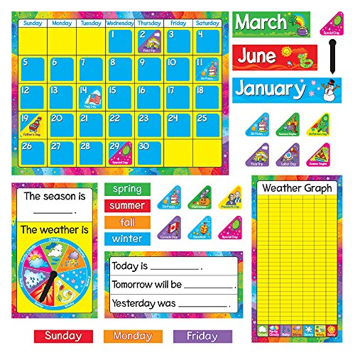 Trend Enterprises Trend Enterprises Year Around Calendar Bulletin Board Set (T-8096) (Weather Trend Station Weather)
