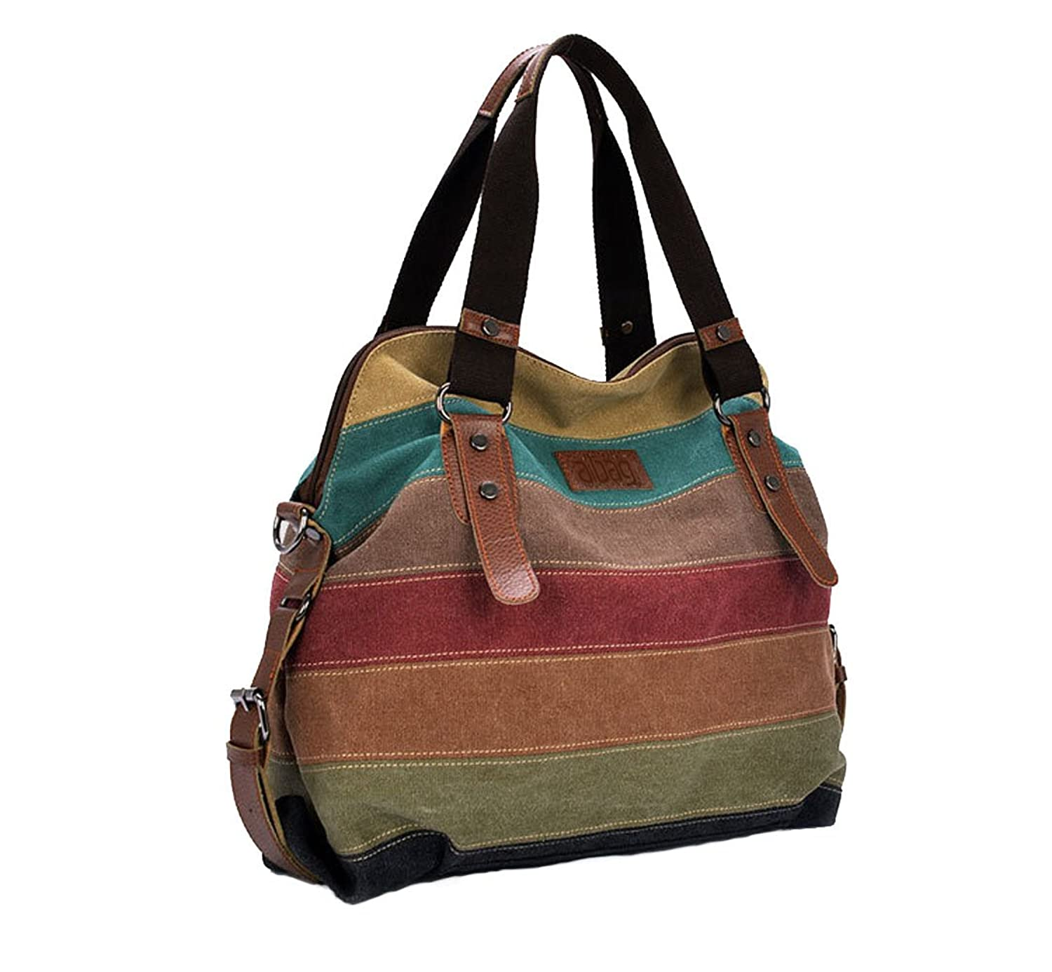 Amazon.com: Aibag Multi-Color Daily Purse Women's Canvas Top ...