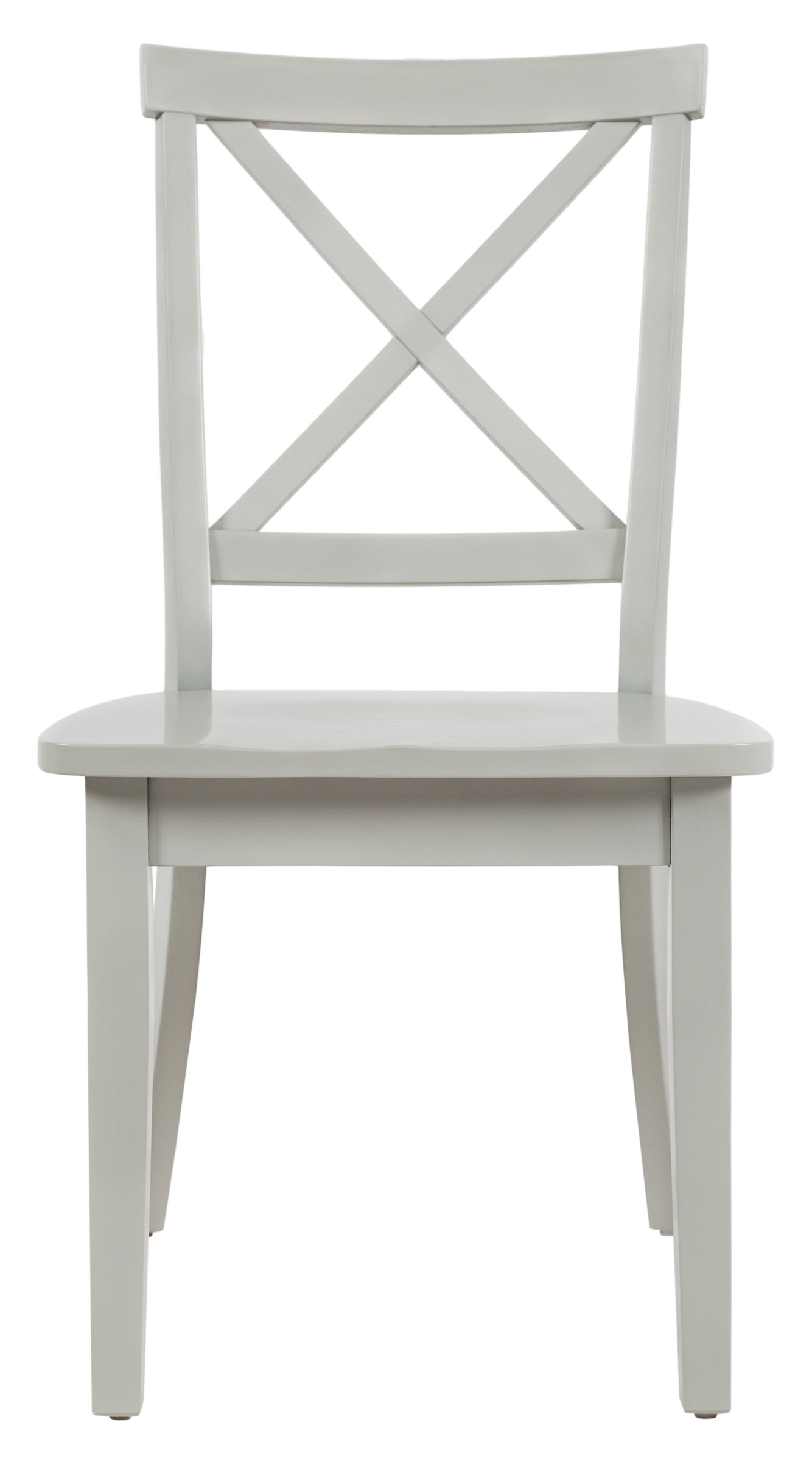 Jofran: 1639-915KD, Everyday Classics, X Back Dining Side Chair, 19''W X 22''D X 37''H, Dove Finish, (Set of 2)
