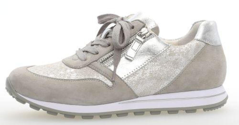 Gabor Shoes Comfort Basic, Zapatos de Cordones Derby Para Mujer 37.5 EU|silber/light grey