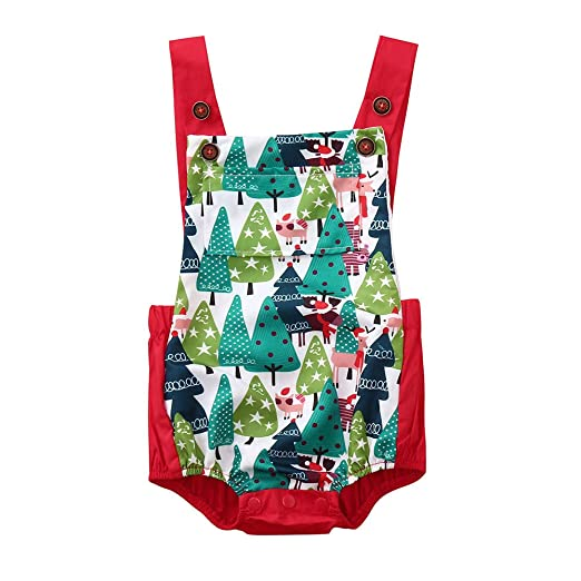 9b71e62af Amazon.com  SUJING One Piece Outfits Baby Christmas Rompers ...