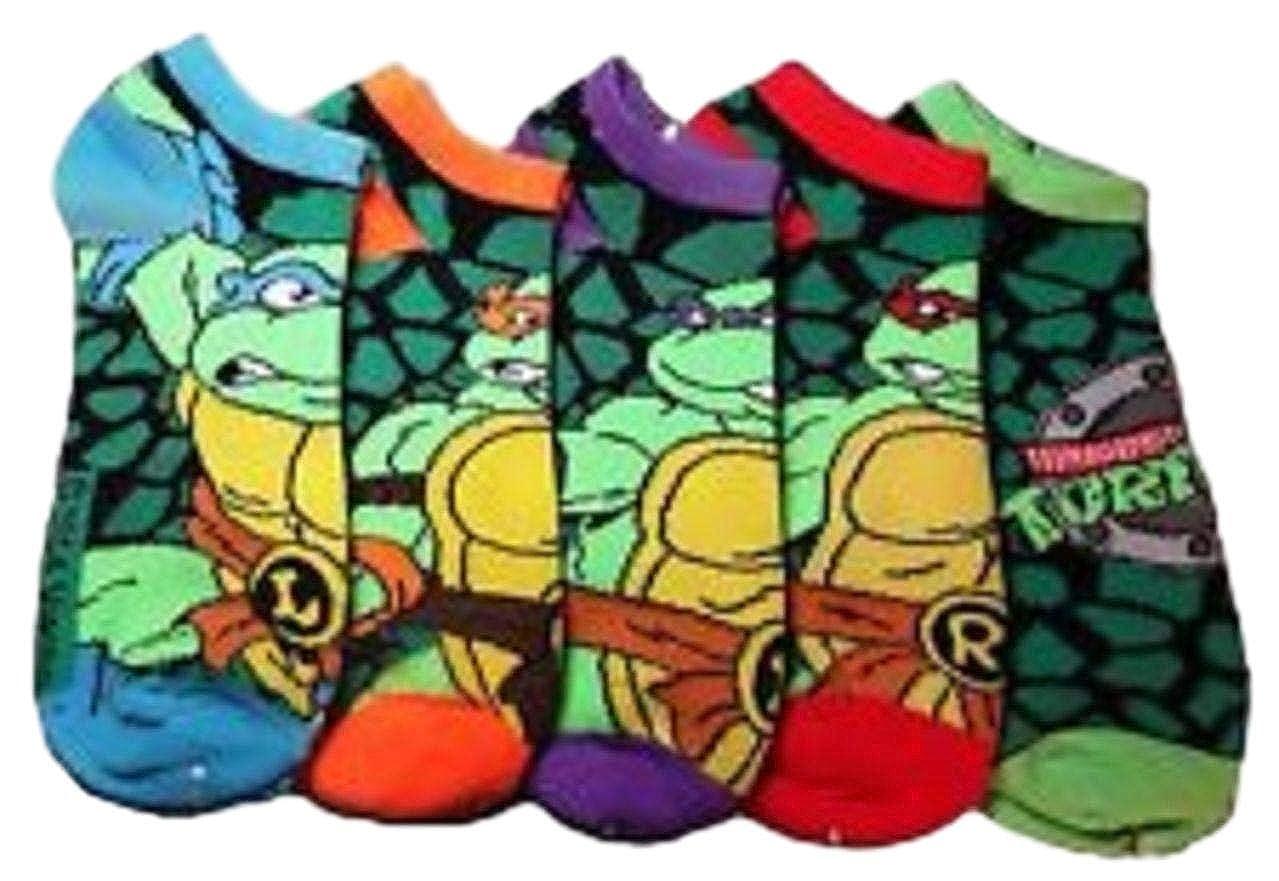 Teenage Mutant Ninja Turtles Characters & Logo Ankle Sock Set