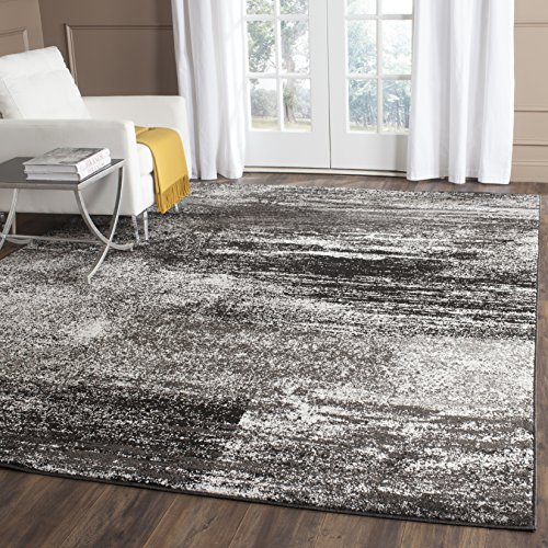 Safavieh Adirondack Collection ADR112A Silver and Black Modern Abstract Area Rug (3′ x 5′)