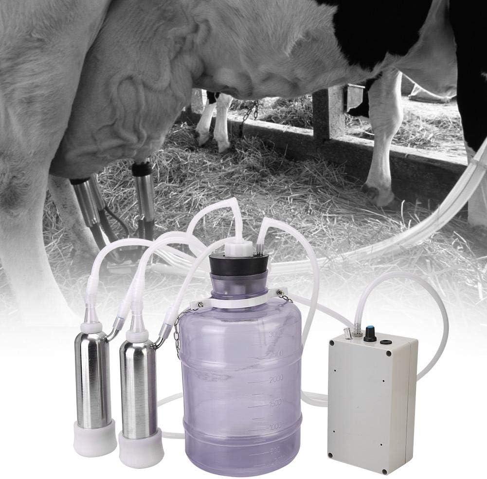 Cows EU Plug per vacche da Pecora PC 3L Addensare silenziamento Addensato in mungitrice Trasparente Mungitore con valvola di Controllo Design a Doppio Tubo Lecxin Kit di mungitura