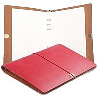 A5 Läderpärm anteckningsbok PU-läder journal skrift anteckningsbok dagbok utbytbart papper, fint mjukt PU-läder…