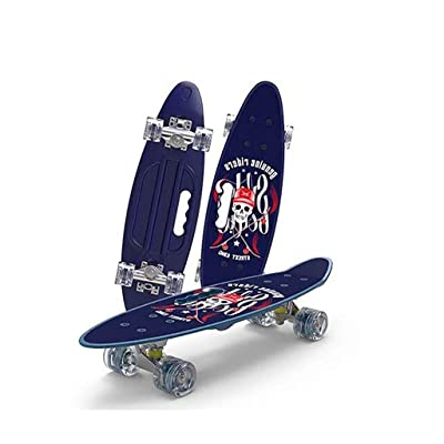 Completely Skateboarding Professional Skateboard, Wave Pattern, for Adult-Teenage-Children /24inch : Sports & Outdoors
