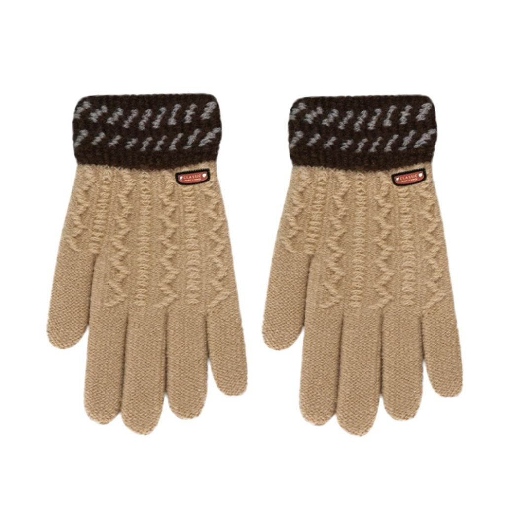 Remiel Store Infant Baby Girls Boys Cute Classical Thicken Hot Full Finger Winter Warm Gloves