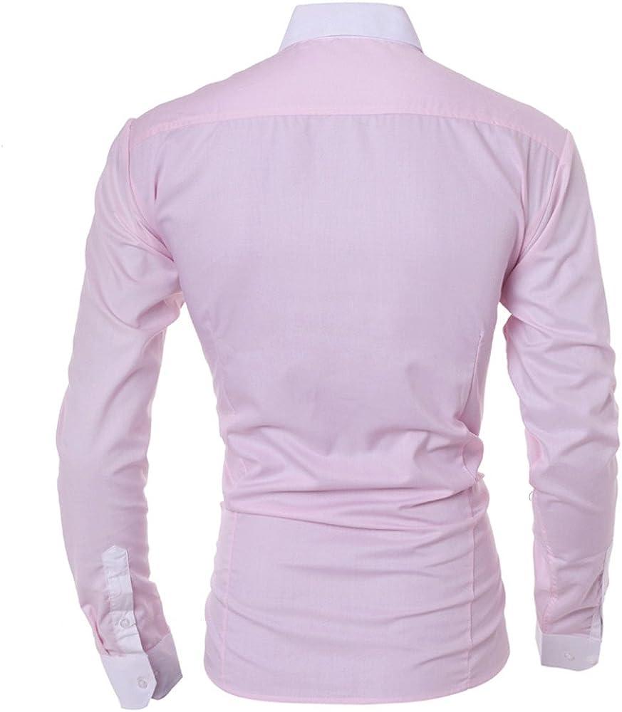 Moginp Chemise Homme T Shirt /à Manches Longues D/écontract/é pour de la Personnalit/é Chemise C
