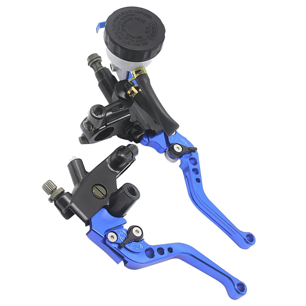 Gazechimp 2pcs Palanca de Embrague Freno Montaje de Manillar 22mm de Motocicleta Reemplazo para Yamaha - Azul: Amazon.es: Coche y moto