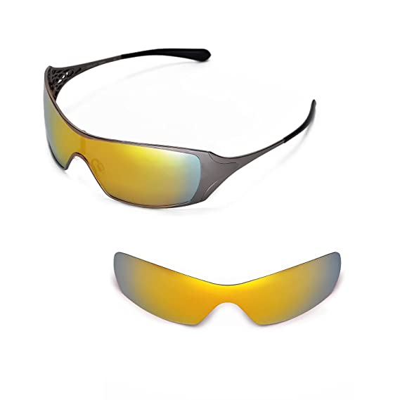 e3e7b24c3a Walleva Replacement Lenses for Oakley Dart Sunglasses (24K Gold - Polarized)   Amazon.co.uk  Clothing