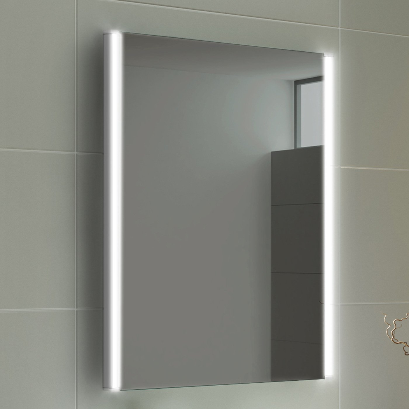 500 x 700 mm Modern Illuminated Battery LED Light Bathroom Mirror MC158 iBathUK