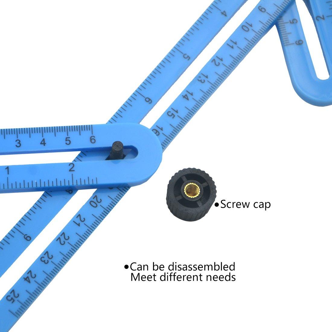 Regla de la medida del /ángulo AngelaKerry Templater m/étrico // Pulgada alternativa Acer Regla de medici/ón multi /ángulo /Ángulo herramienta de plantilla Para el constructor // ingeniero // Artesano // Uso dom/éstico