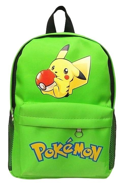bsbl Caricatura Pokemon Mochila Pikachu Multicolor Mochila de escolar 22 *??12 * 33