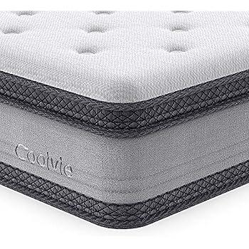 Amazon Com King Mattress 10 Inch Coolvie Memory Foam Innerspring Hybrid Mattress In A Box