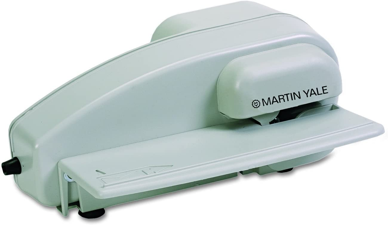 Martin Yale 1616 Desktop Letter Opener, Easy One-hand Operation, Automatically Feeds and Opens Up To 3,000 Envelopes per Hour, Accepts Standard-sized Business Envelopes, Fully Enclosed Blades