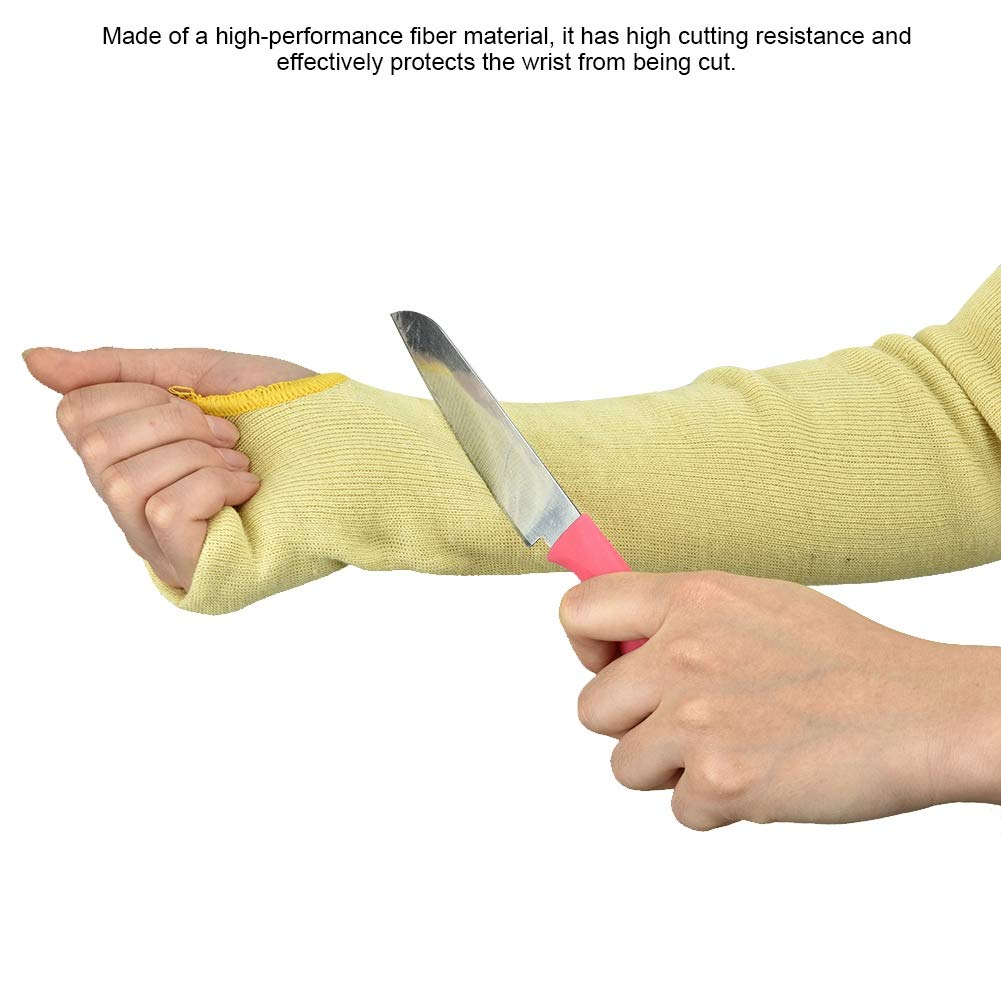 Qinlorgo Protective Arm Sleeves 1 Pair Cut Proof Arm Sleeve Guard Heat-resistant Anti-Cutting Arms Protector