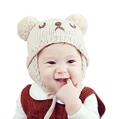 febae8e7c38b Norbi Baby Newborn Kids Girls Boys Winter Warm Hat Infant Toddler Kid Bear  Beanie Knit Cap