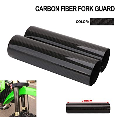 Motorcycle Fork Carbon Fiber Wrap Boots Gator Guard Protector Front Shock Covers Gaiters For KTM Honda Yamaha Kawasaki Suzuki Dirt Bike - 9.7 Inch: Automotive