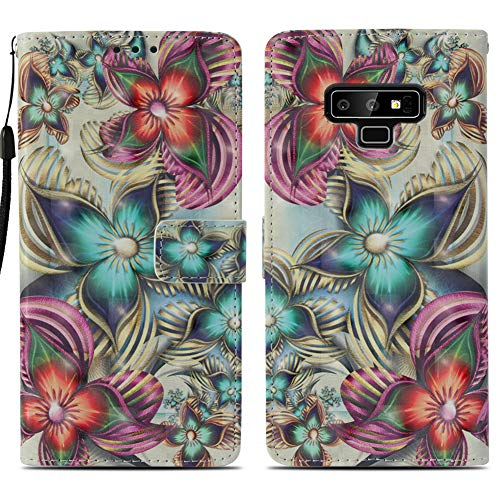 VinMas Samsung Note 9 Case, Galaxy Note9 Wallet Case, Galaxy Note 9 Flip Case PU Leather Folio Magnetic Kickstand Cover with Card Slots for Samsung Galaxy Note 9, Kaleidoscope