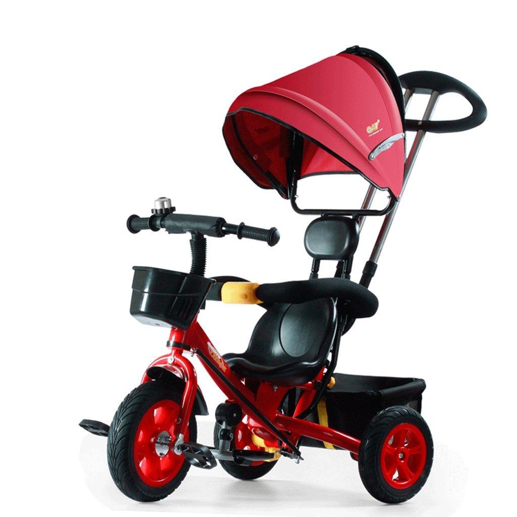 Fenfen子供の三輪車カート1 – 7 Babyバイクキッズ3輪ベビーカー自転車、レッド、ブルー、8550100 CM B07CG4K4YQレッド