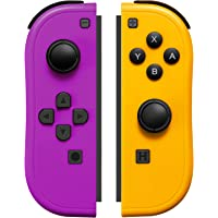 JoyCon Controller Compatible with Switch Joy Cons with Grip Hand,Switch Controllers Supports Wake-up Function (Purple…