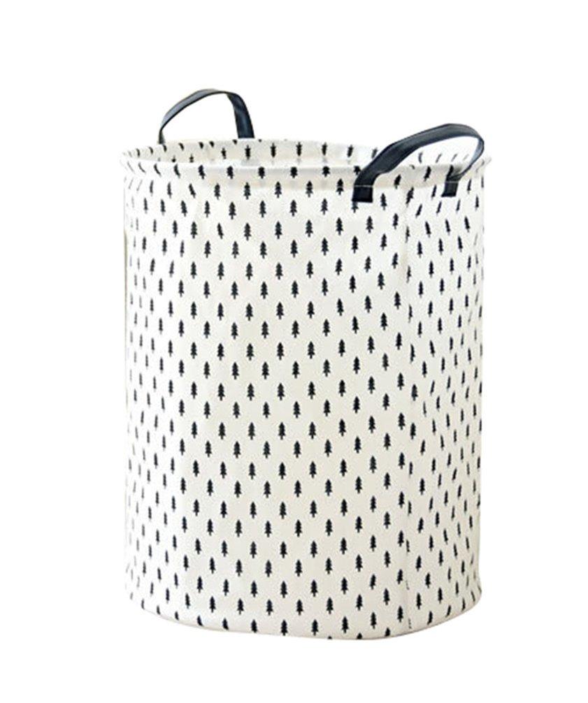 JEELINBORE Plegable Cestos para la colada Cajas de almacenaje Impermeable Cestas de Tela para Guardar Organizadoras Juguetes Ropa Cesta para lavander/ía B/úho, 35x45CM