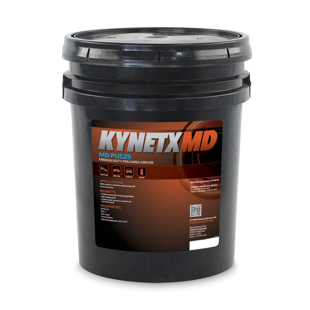 Kynetx Polyurea Grease, MD PUG25, 35 Lb. Drum, PUG2512000-KN5021, Medium Duty Automotive, Construction, Industrial, Corrosion Resistant, Extreme Pressure, High Performance Machine Lubricants, Grade 2