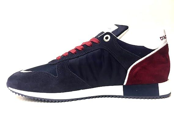 Scarpe Sneakers Casual Uomo Daposacquasparta Originale U150 Pelle scarpe Pe New Colore Principale Blu/ Bordeaux Taglia 44