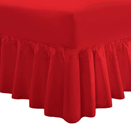 Iron Plain Dyed Poly-Cotton Double,Single,King Fitted Valance Sheet Luxury Non