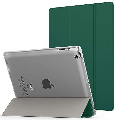 MoKo Funda para iPad 2/3/4, Ultra Delgado Función de Soporte Protectora Plegable Cubierta Inteligente Trasera Transparente para iPad 2/The New iPad 3 ...